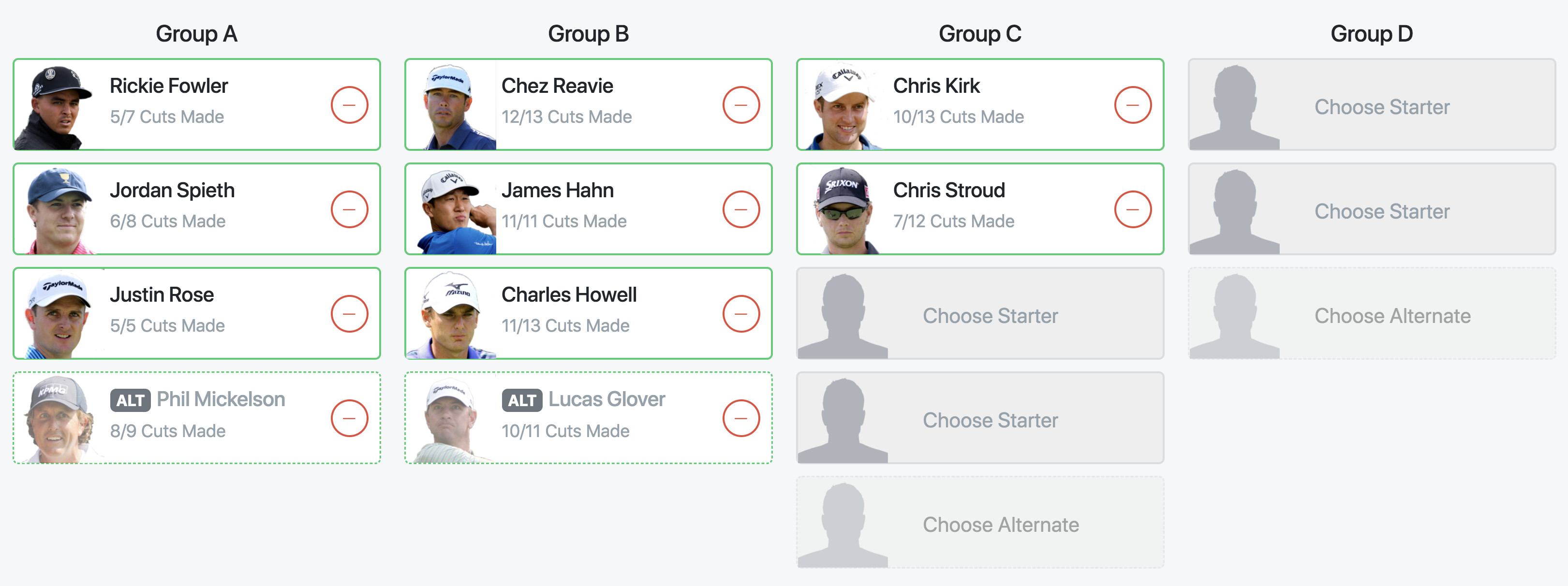 Pick team.